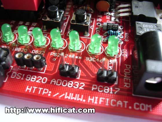 ds18b20温度传感器,ad0832模数转换,pc817光耦接线端子.