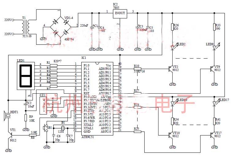 智能彩灯控制器的设计