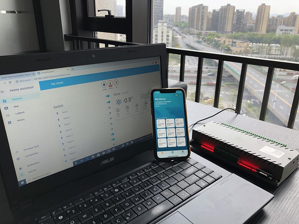 home assistant控制32路继电器
