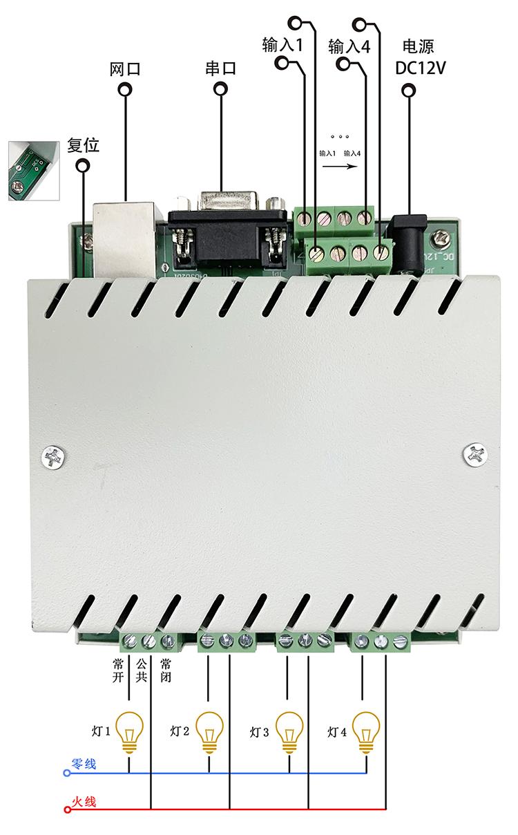 网络继电器灯光控制