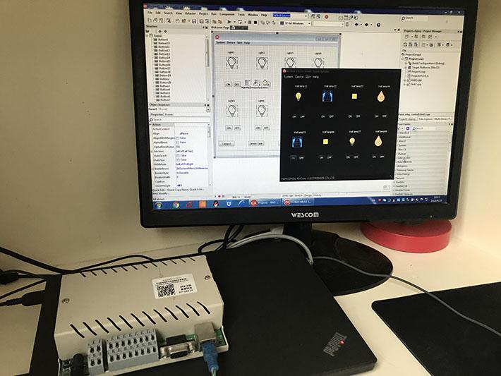 kc868-h8有线智能家居控制主机二次开发DEMO截图
