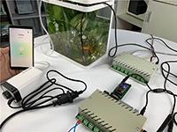 网络继电器实现语音控制鱼缸氧气泵及水温检测