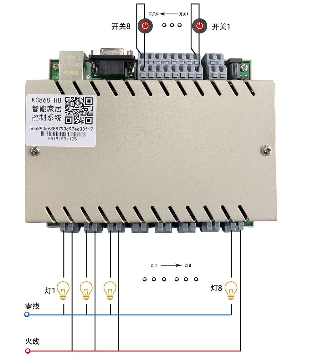 网络继电器接线
