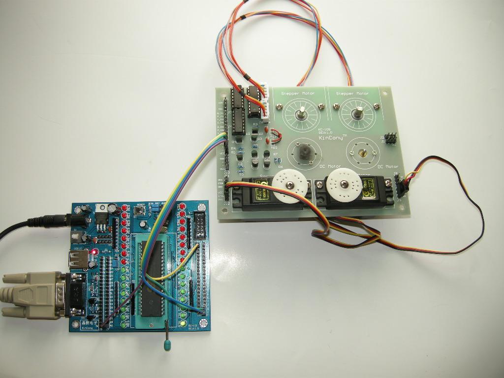 51单片机控制直流电机正反转的瞬间实验照片-1