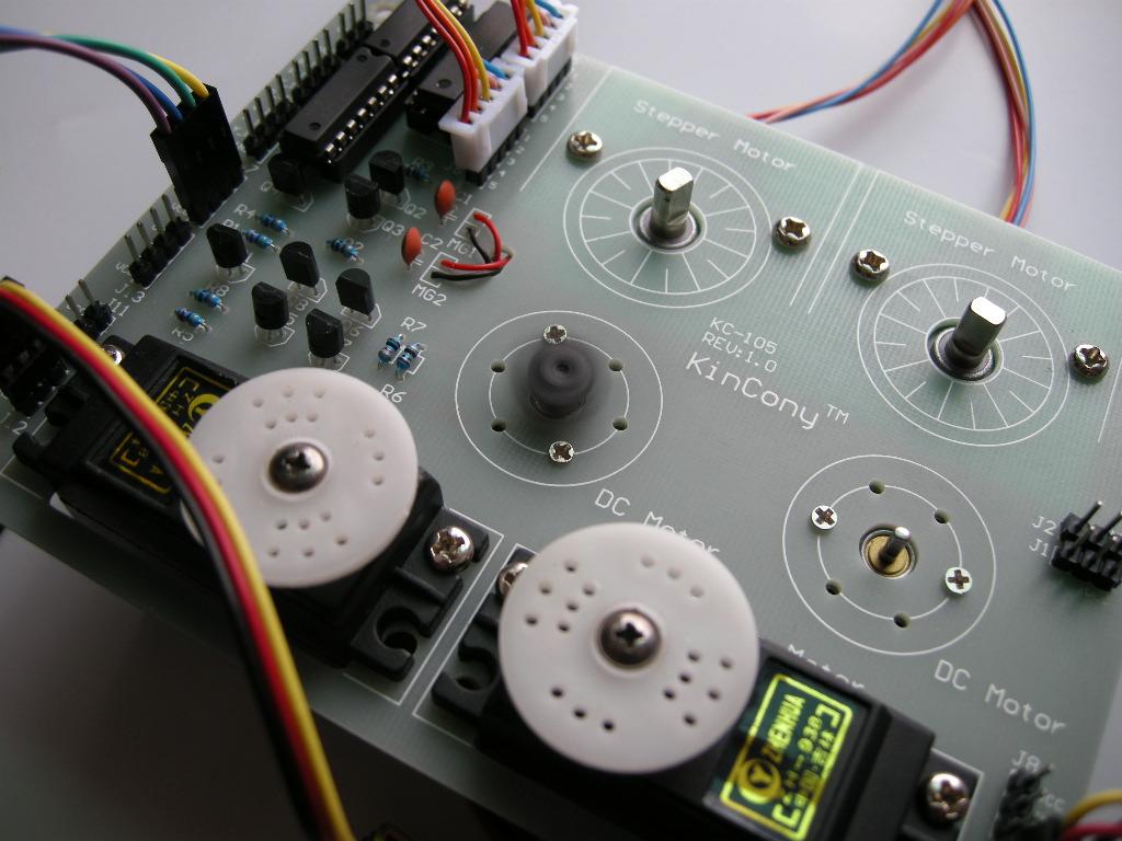 51单片机控制直流电机正反转的瞬间实验照片-2