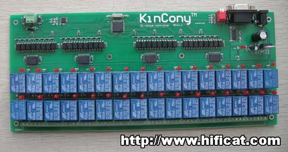 """""""32路继电器串口控制板"""",可以利用pc电脑"""