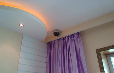安装在客厅网络摄像头