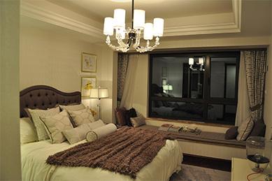 卧室情景模式下的灯光效果